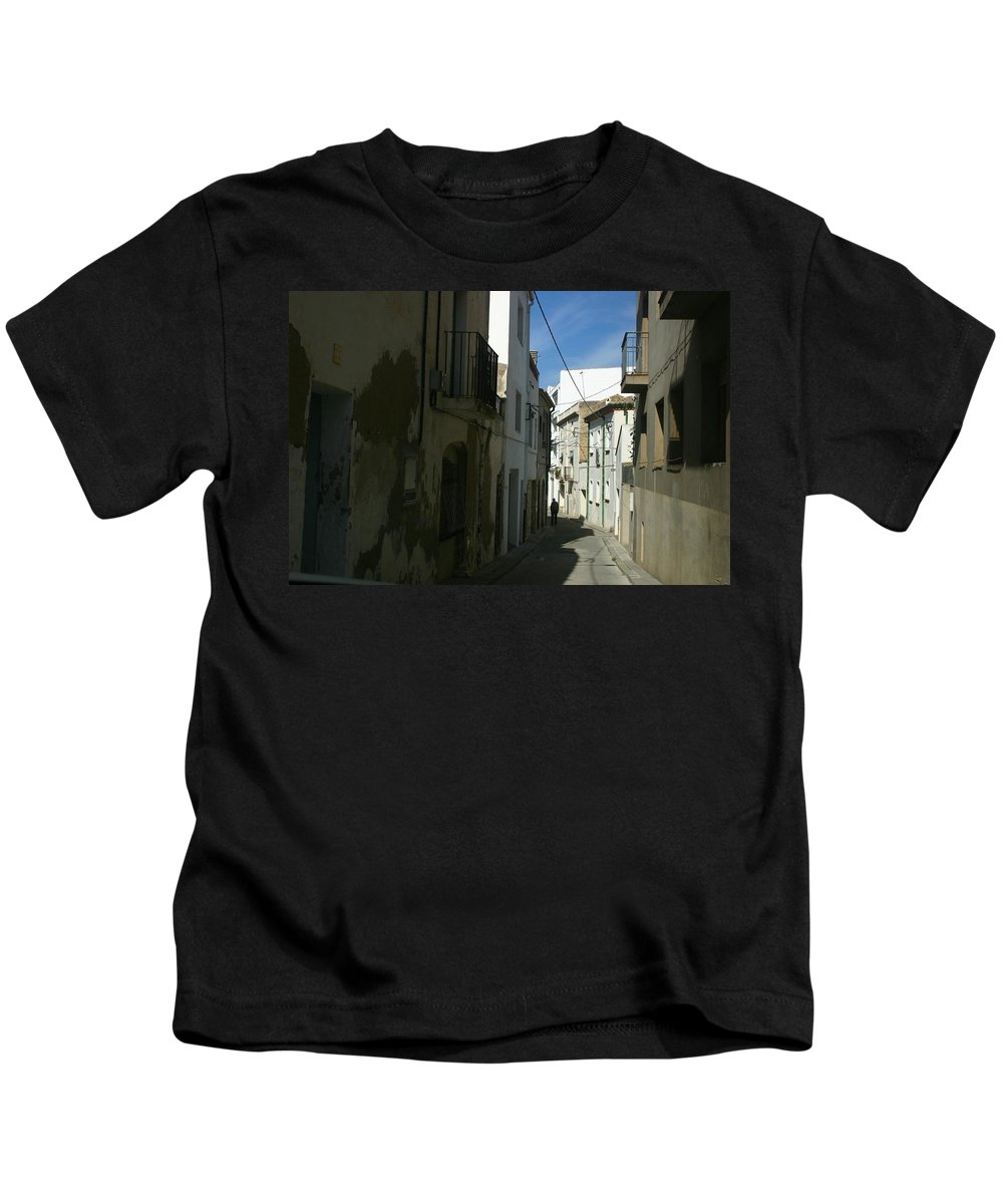 Spain Kids T-Shirt featuring the photograph Spain One Way by Minaz Jantz
