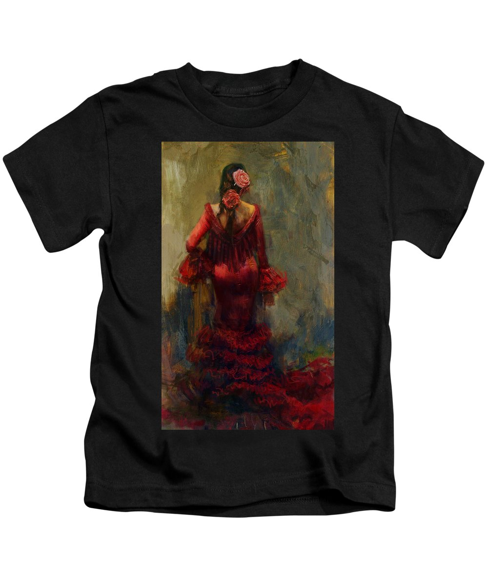 Spanish Kids T-Shirt featuring the painting Spanish Culture 22 by Corporate Art Task Force