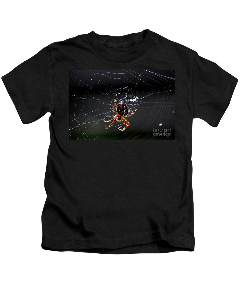Digital Photo Kids T-Shirt featuring the photograph Spider by David Lane