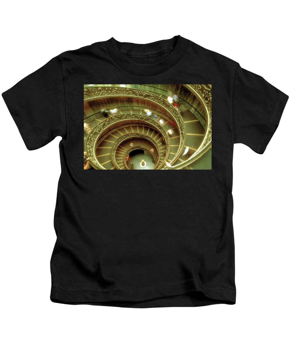 Vatican Kids T-Shirt featuring the photograph Spiral by Surjanto Suradji
