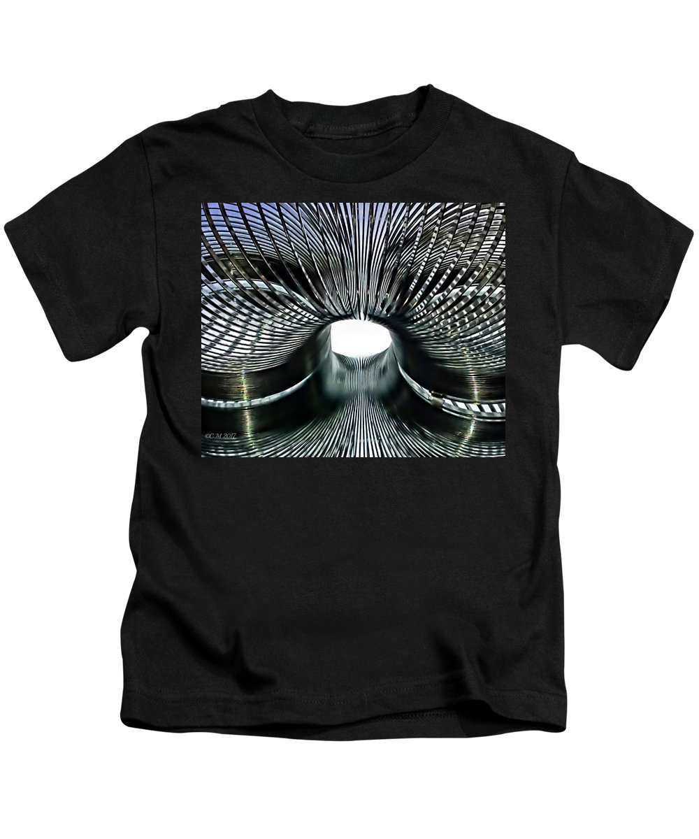 Slinky Kids T-Shirt featuring the photograph Spiral Wire Bridge by Catherine Melvin