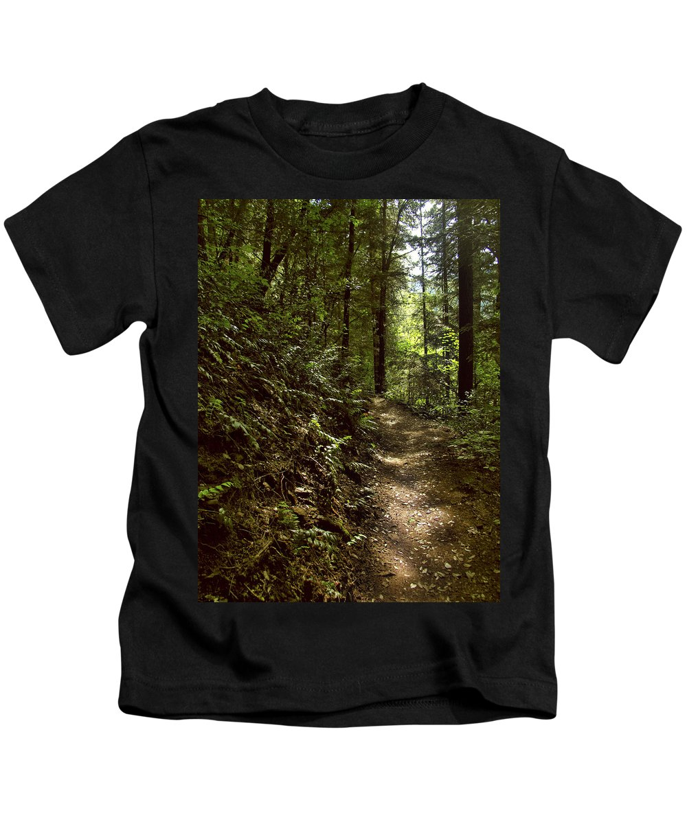 Landscape Kids T-Shirt featuring the photograph Spirit Of The Wood by Karen W Meyer