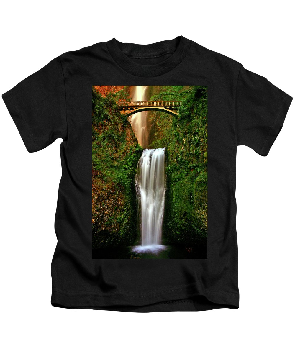 Spiritual Kids T-Shirt featuring the photograph Spiritual Falls by Scott Mahon