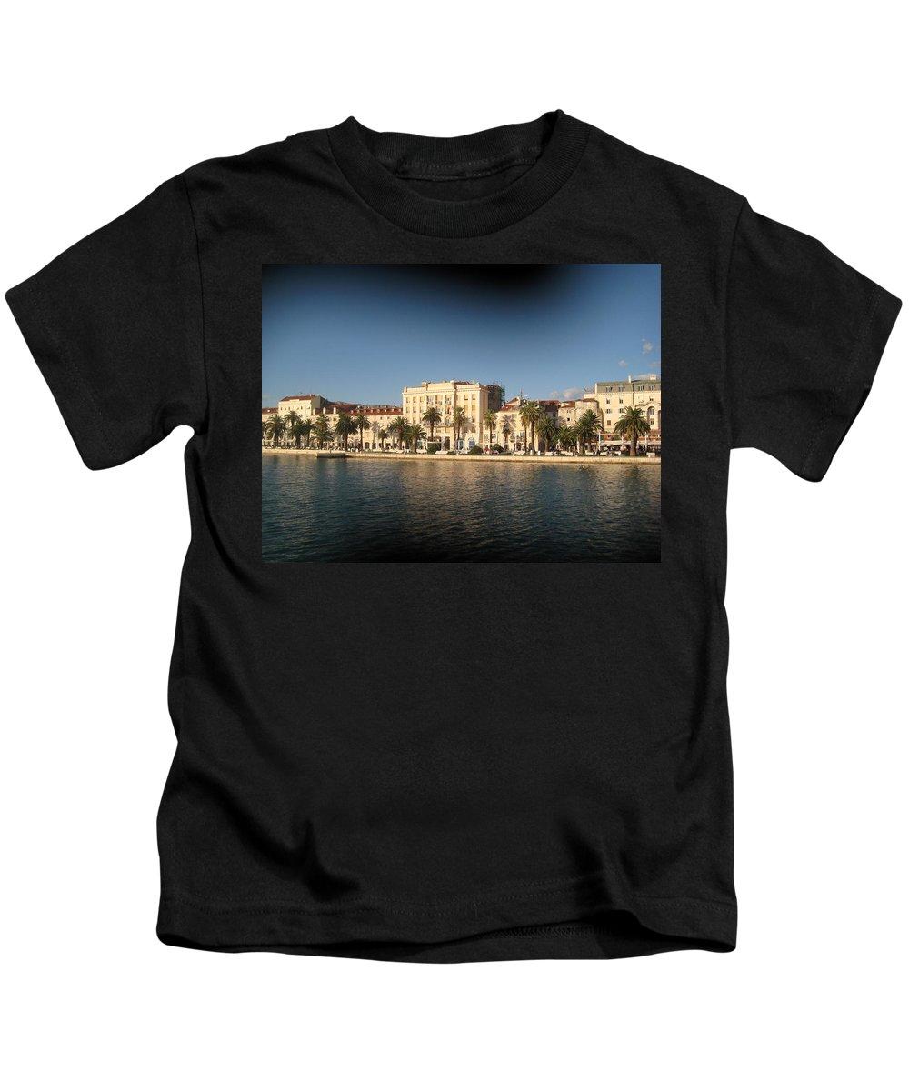Landscape Kids T-Shirt featuring the photograph Split- Croatia by Mirjana Gotovac
