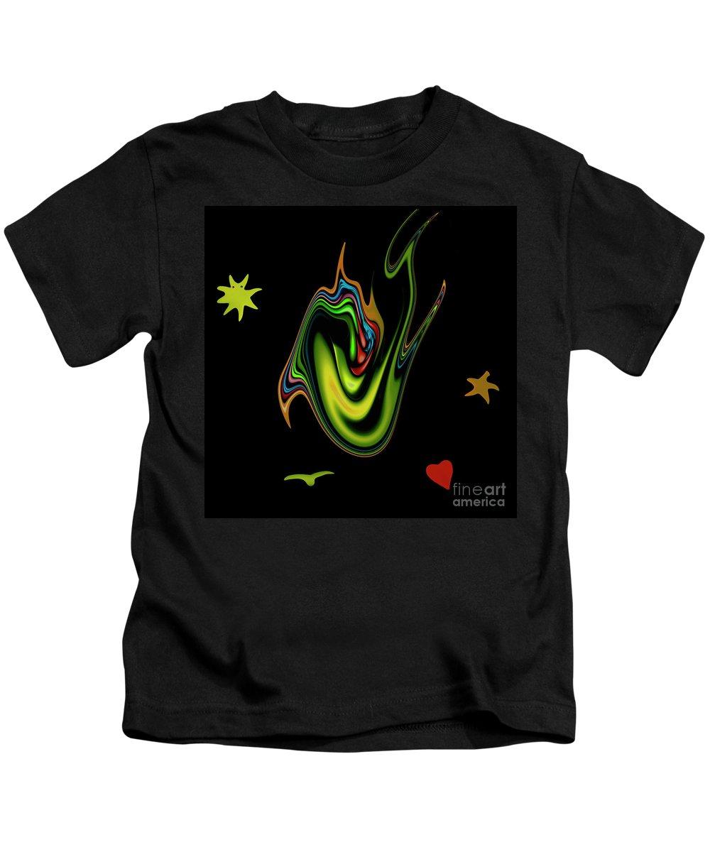 Split Tongue Words Meaning Heart Devil Weapon Mouth Dangerous Speak Speaking Kids T-Shirt featuring the digital art Split Tongue 2 by Steve K