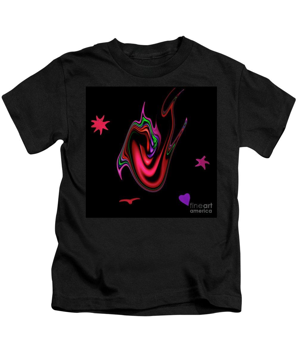 Split Tongue Words Meaning Heart Devil Weapon Mouth Dangerous Speak Speaking Kids T-Shirt featuring the digital art Split Tongue by Steve K