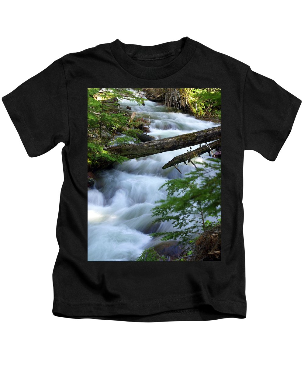 Glacier National Park Kids T-Shirt featuring the photograph Sprague Creek Glacier National Park by Marty Koch