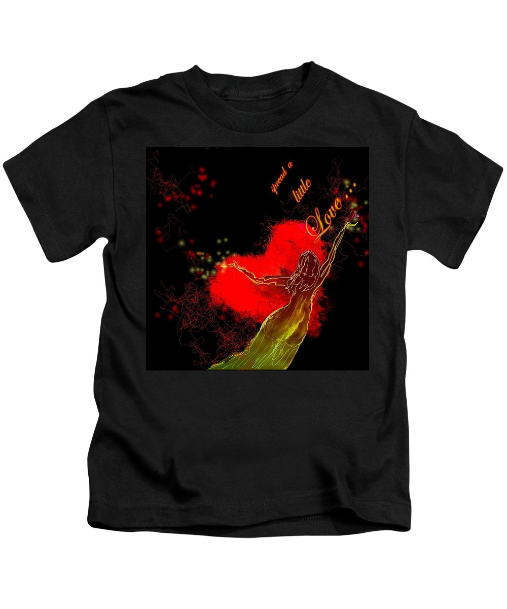 Love Kids T-Shirt featuring the painting Spread A Little Love by Miki De Goodaboom