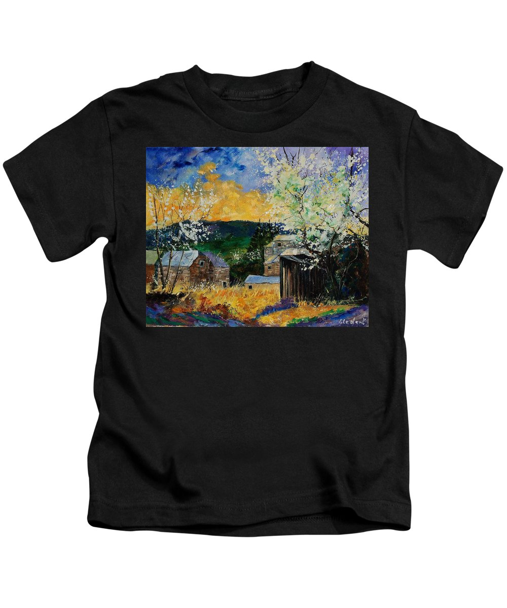 Spring Kids T-Shirt featuring the painting Spring 45 by Pol Ledent