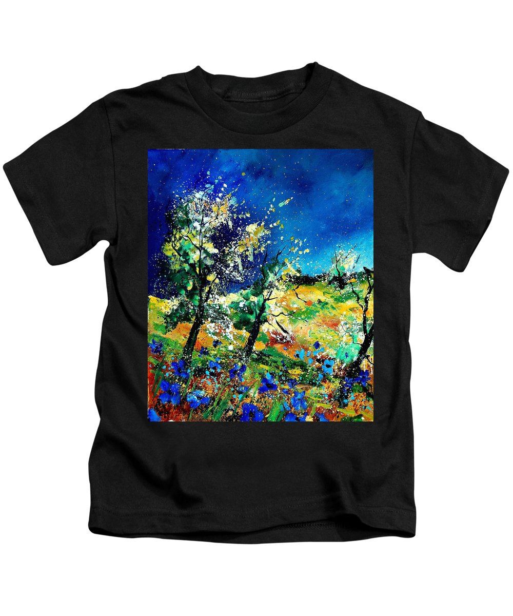 Tree Kids T-Shirt featuring the painting Spring 56 by Pol Ledent