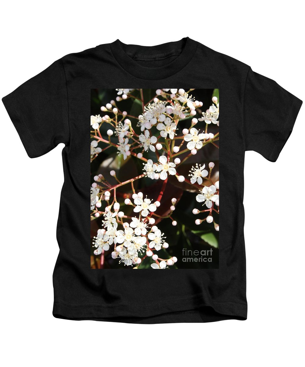 Spring Kids T-Shirt featuring the photograph Spring Blossoms Macro by Carol Groenen