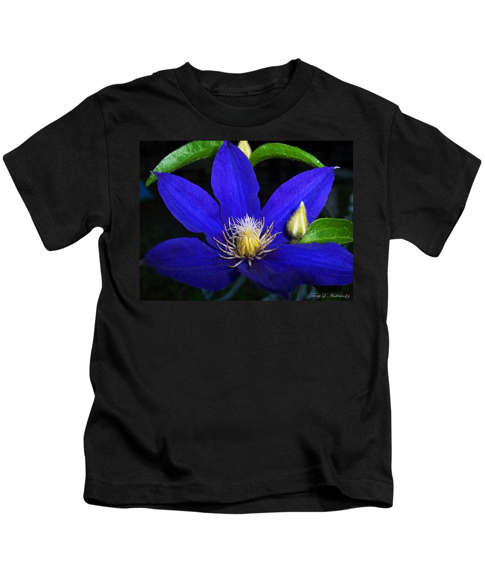Spring Kids T-Shirt featuring the photograph Spring Clematis by Terry Anderson