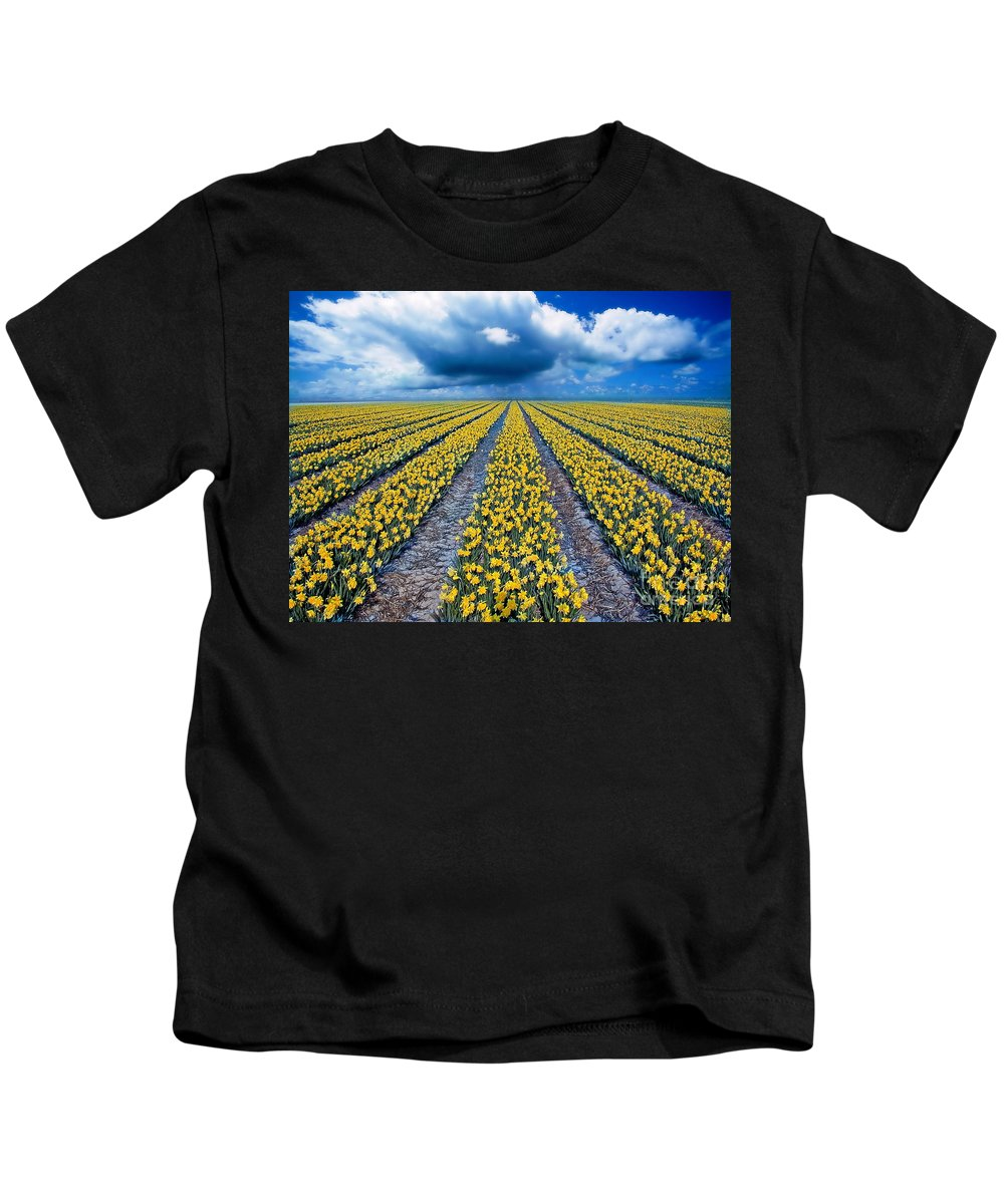 Flowers Kids T-Shirt featuring the photograph Spring Fields by Jacky Gerritsen
