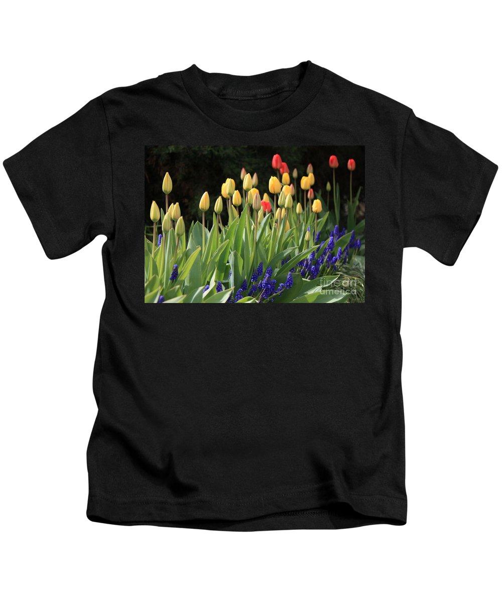 Spring Kids T-Shirt featuring the photograph Spring Garden by Carol Groenen