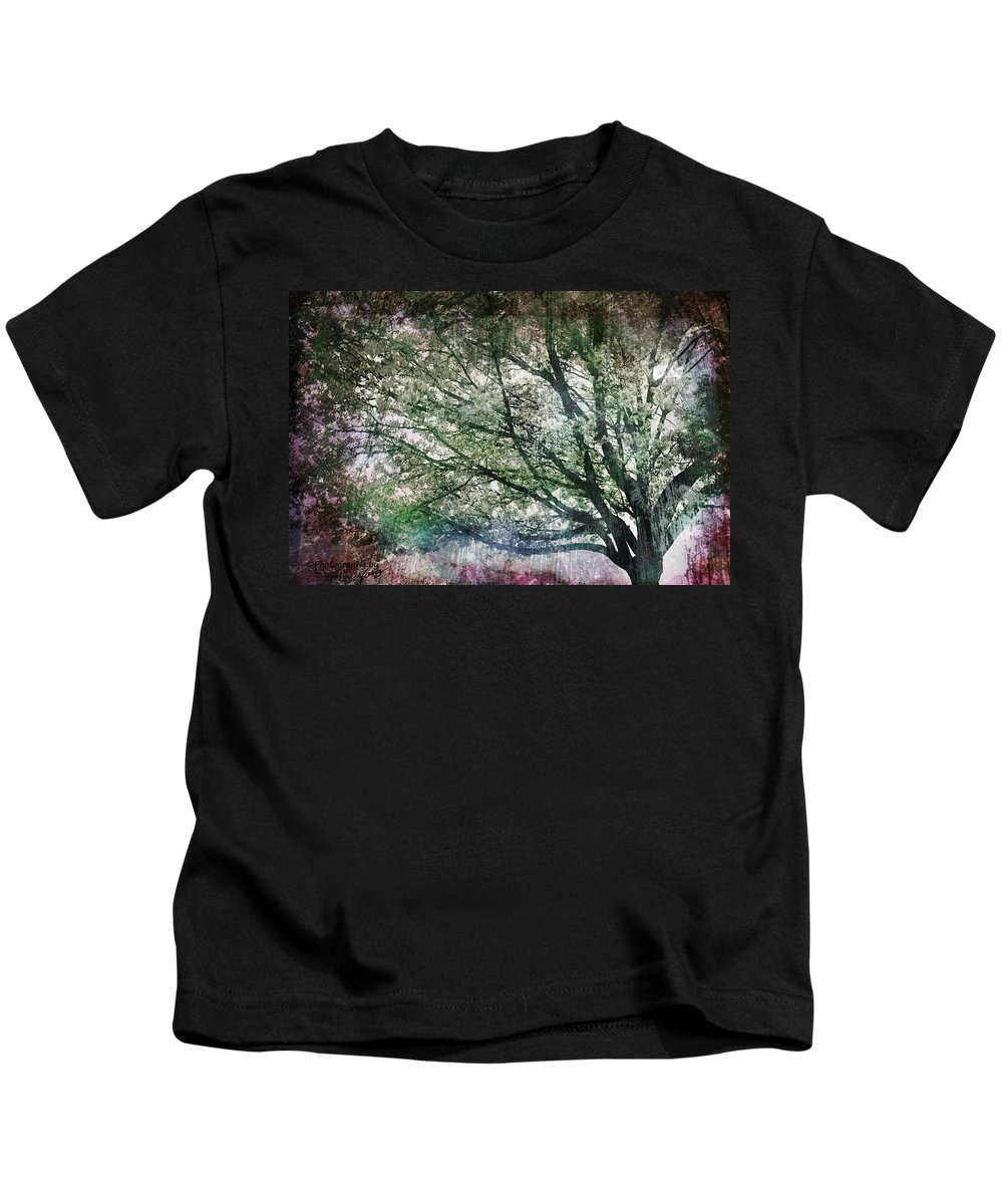 Tree Kids T-Shirt featuring the painting Spring Tree by Gray Artus