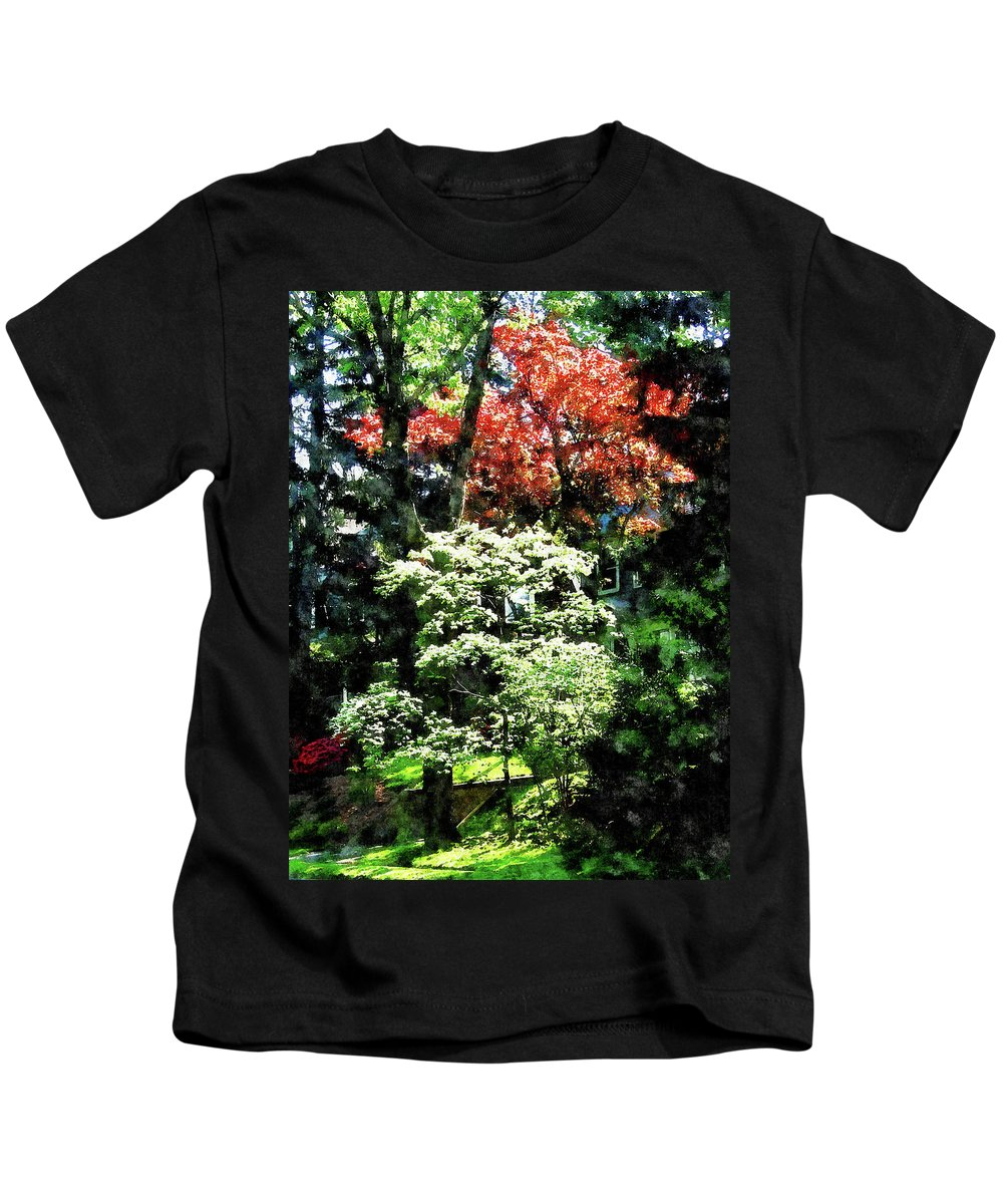 Spring Kids T-Shirt featuring the photograph Spring Trees by Susan Savad