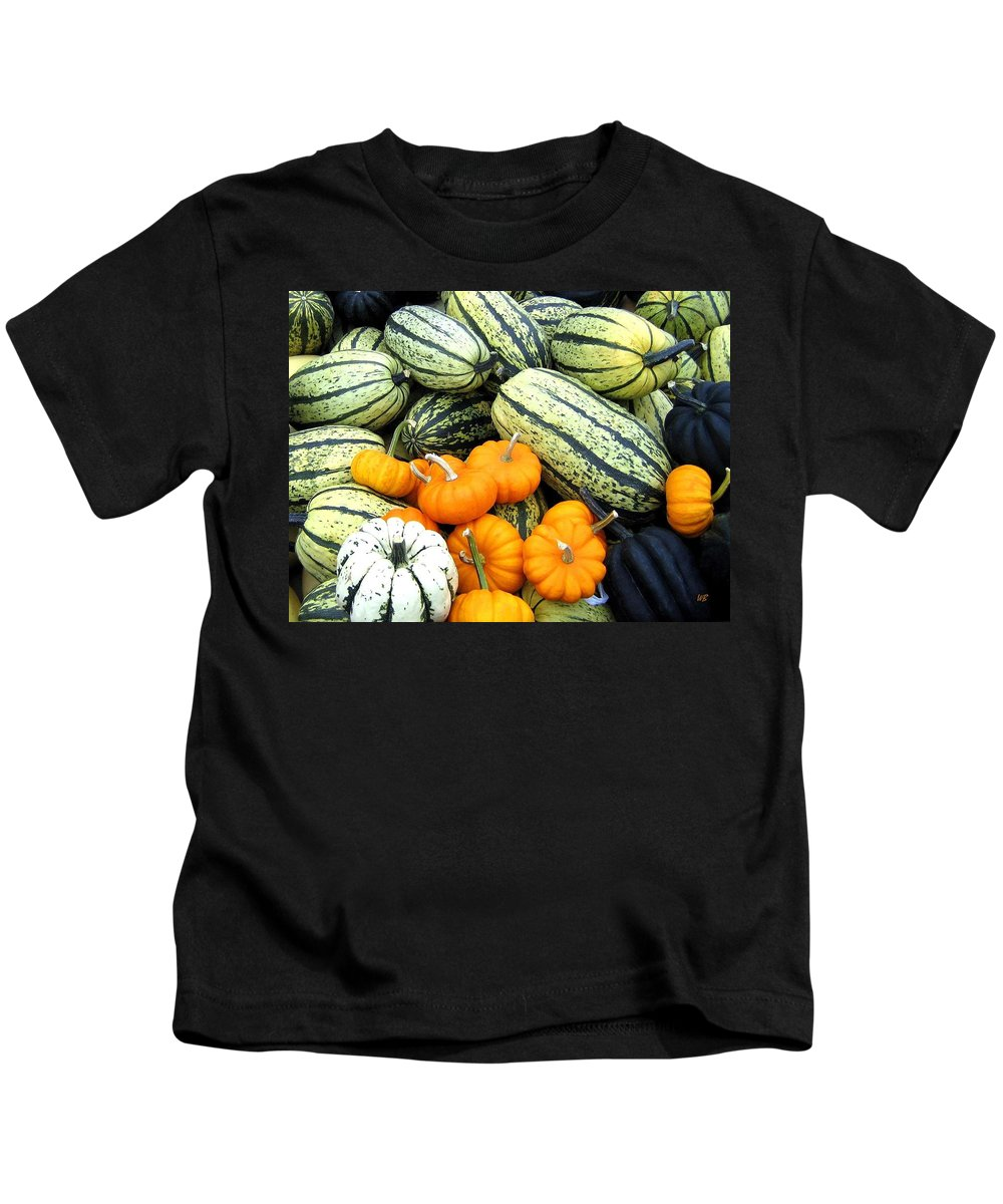 Squash Kids T-Shirt featuring the photograph Squash Harvest by Will Borden
