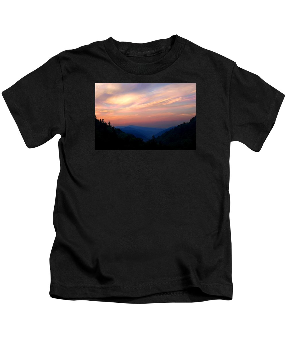 Sunrise Kids T-Shirt featuring the photograph Stacked Sunrise by Don Keisling