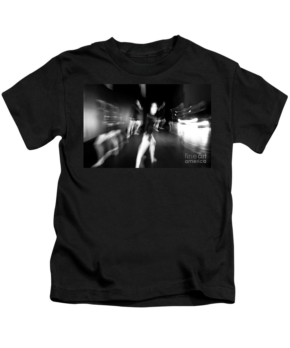 Moden Dance Kids T-Shirt featuring the photograph Stage Zoom - 1 by Scott Sawyer