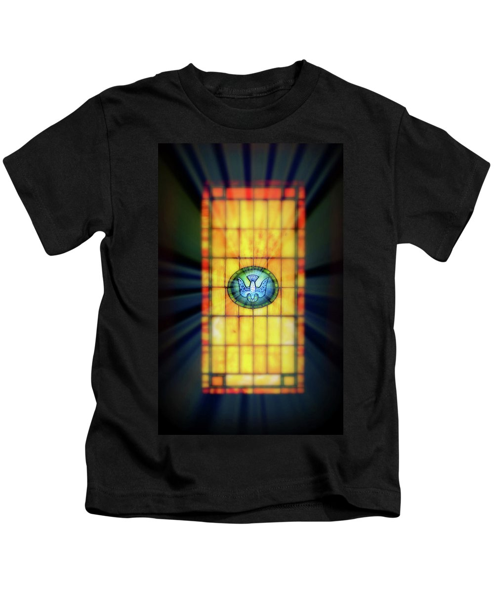 Stain Glass Kids T-Shirt featuring the photograph Stain Glass by Perry Webster