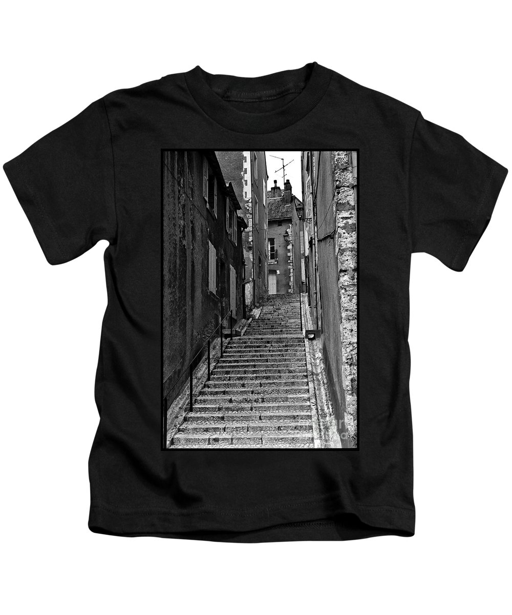 Stairs Kids T-Shirt featuring the photograph Stairway In France by Madeline Ellis