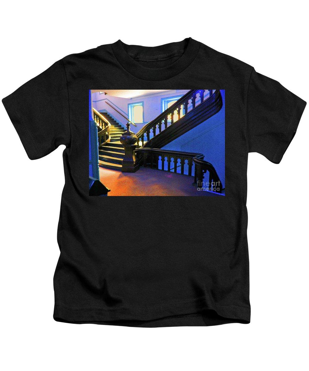 University Of Tampa Kids T-Shirt featuring the photograph Stairwell Of Color by Jost Houk