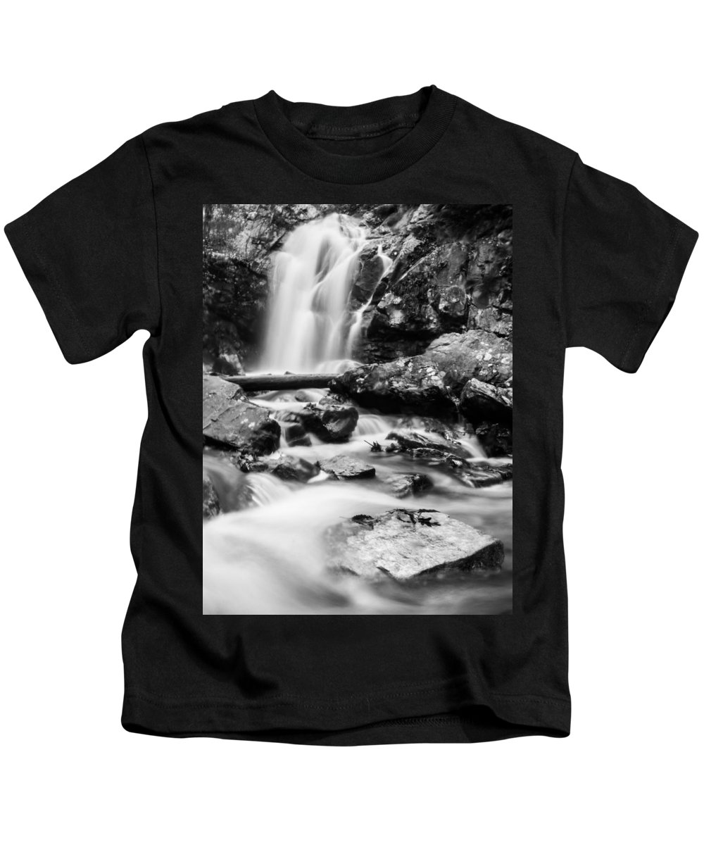 Black And White Kids T-Shirt featuring the photograph Standing Strong Vertical by Parker Cunningham