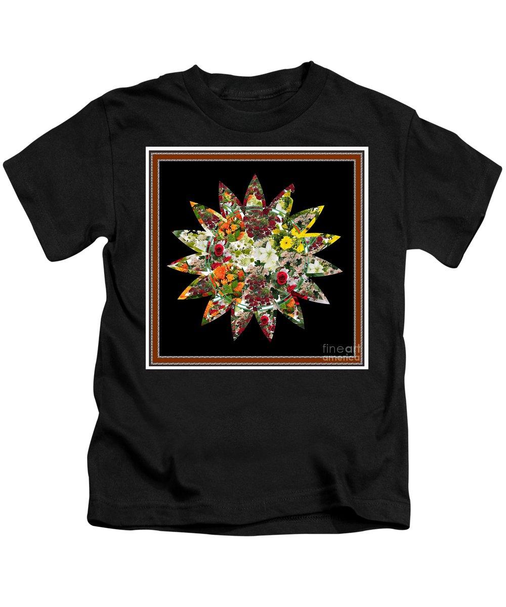 Flower Kids T-Shirt featuring the digital art Star Flower Bouquet Creation By Navinjoshi At Fineartamerica.om Graphics Art  Elegant Interior Deco by Navin Joshi
