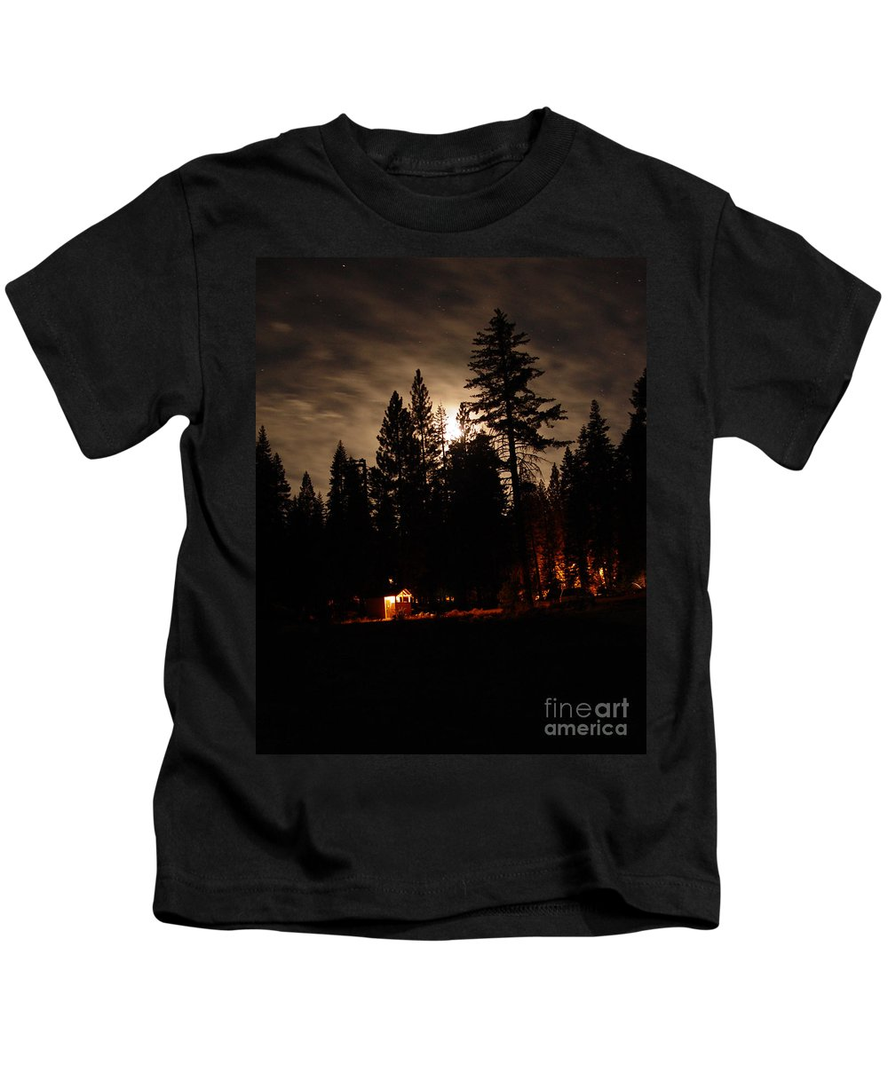 Moonlight Kids T-Shirt featuring the photograph Star Lit Camp by Peter Piatt
