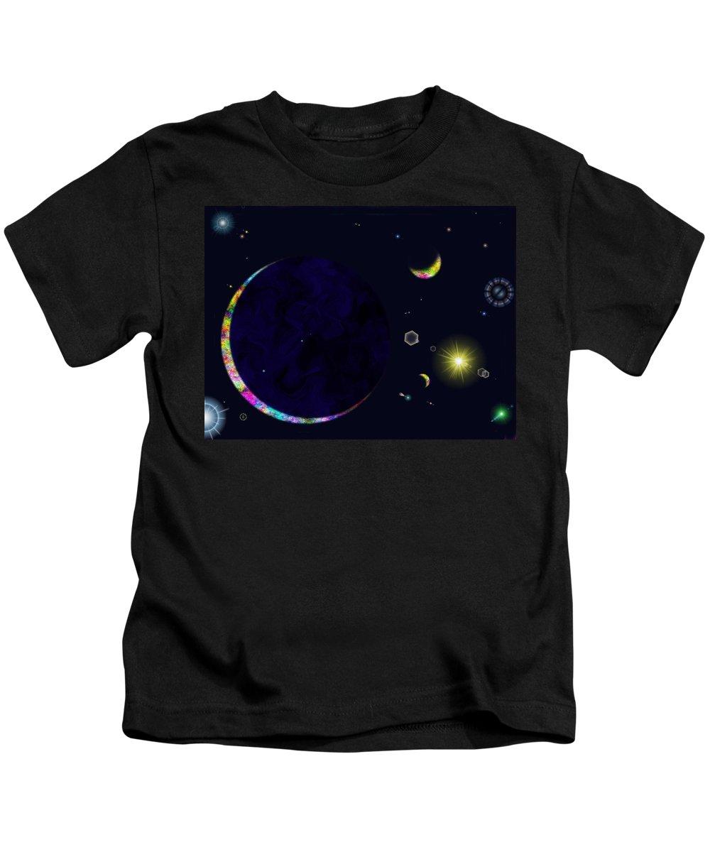 Kids T-Shirt featuring the digital art Star Shine by Tim Allen