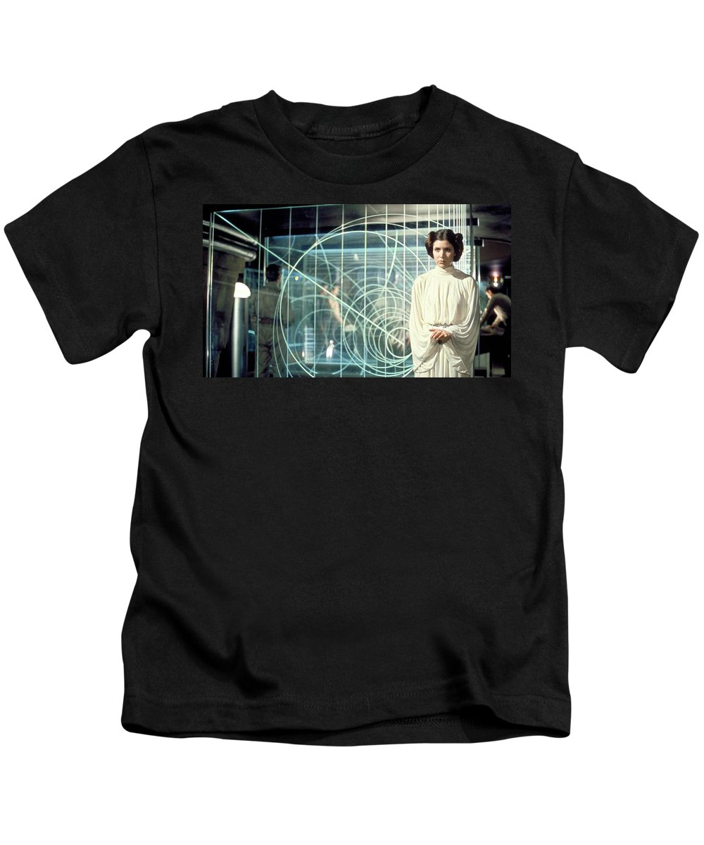 Star Wars Kids T-Shirt featuring the digital art Star Wars by Dorothy Binder