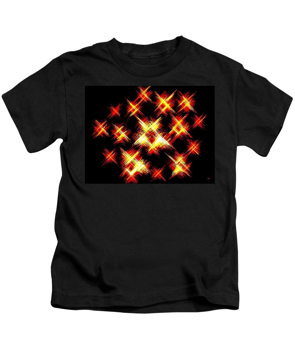 Abstract Kids T-Shirt featuring the digital art Starlight by Will Borden