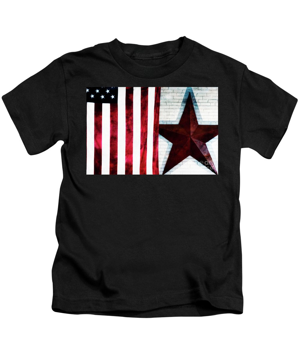 American Flag Kids T-Shirt featuring the photograph Stars And Stripes by Doug Sturgess