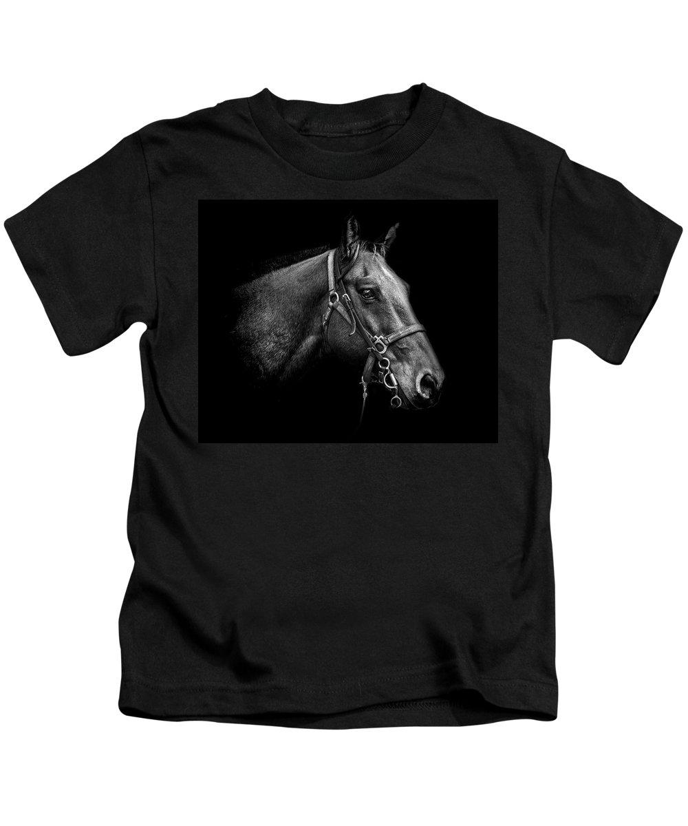 Horse Kids T-Shirt featuring the photograph Steadfast by Chandler Walker