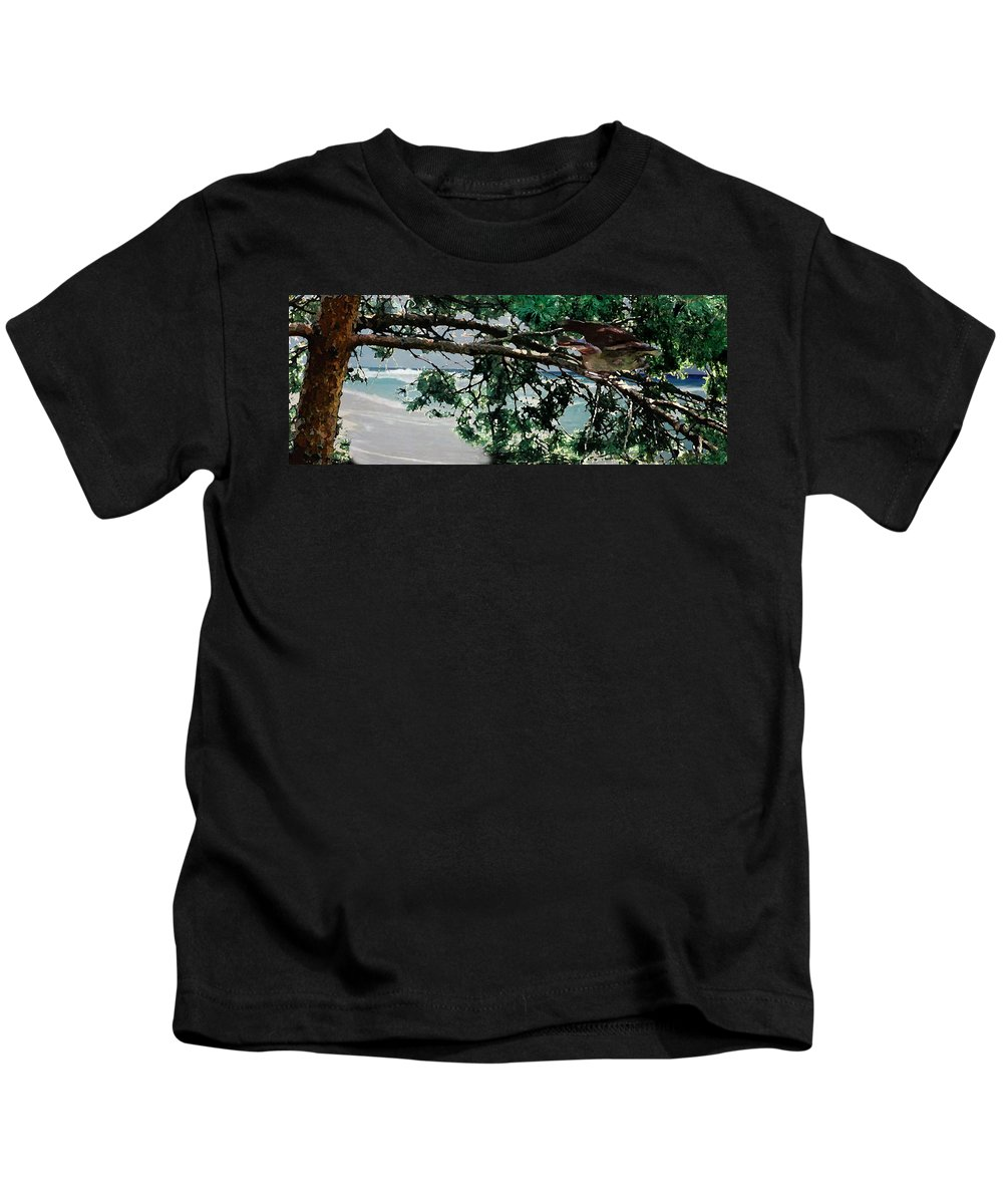 Landscape Kids T-Shirt featuring the painting Stealth by Steve Karol