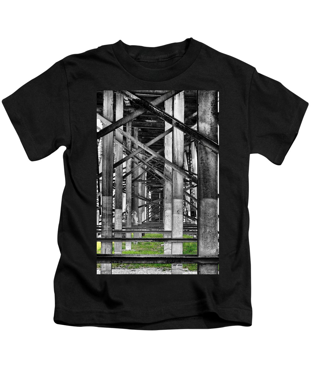 Steel Kids T-Shirt featuring the photograph Steel Support by Rudy Umans