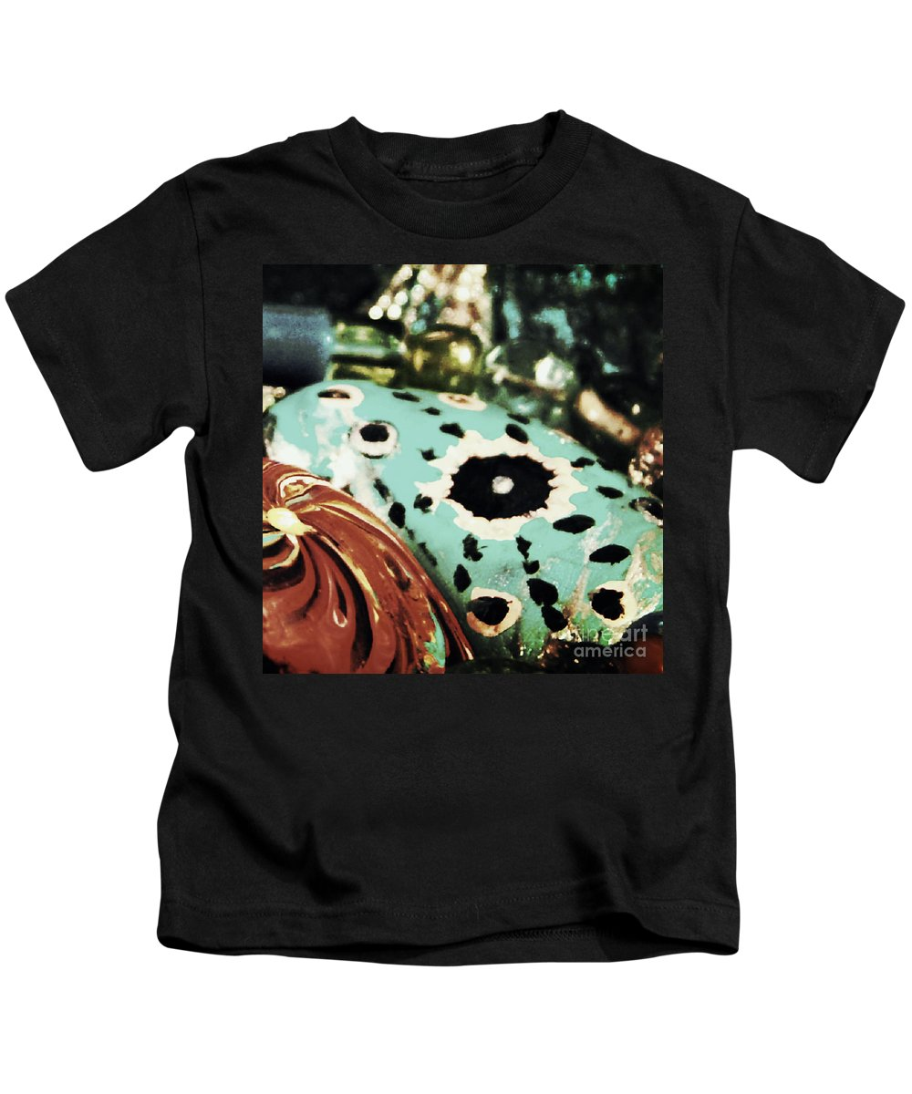 River Rocks Kids T-Shirt featuring the photograph Stepping Stones by Sandra Gallegos
