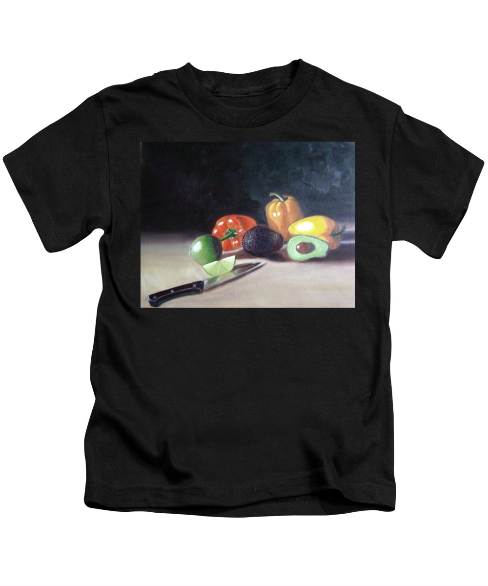 Kids T-Shirt featuring the painting Still-life by Toni Berry