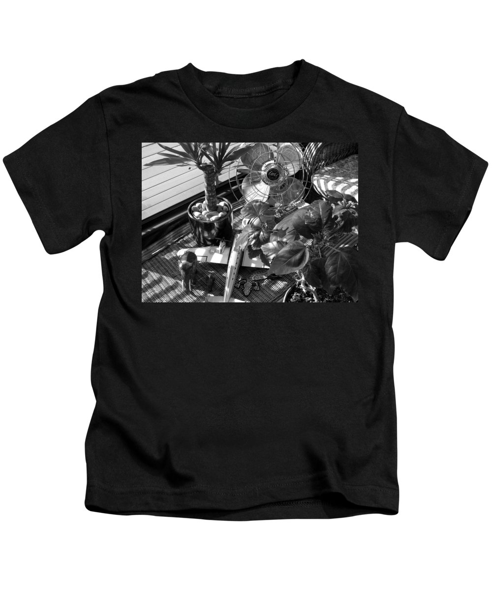 Still Life Kids T-Shirt featuring the photograph Still Life With Salamander by Charles Stuart