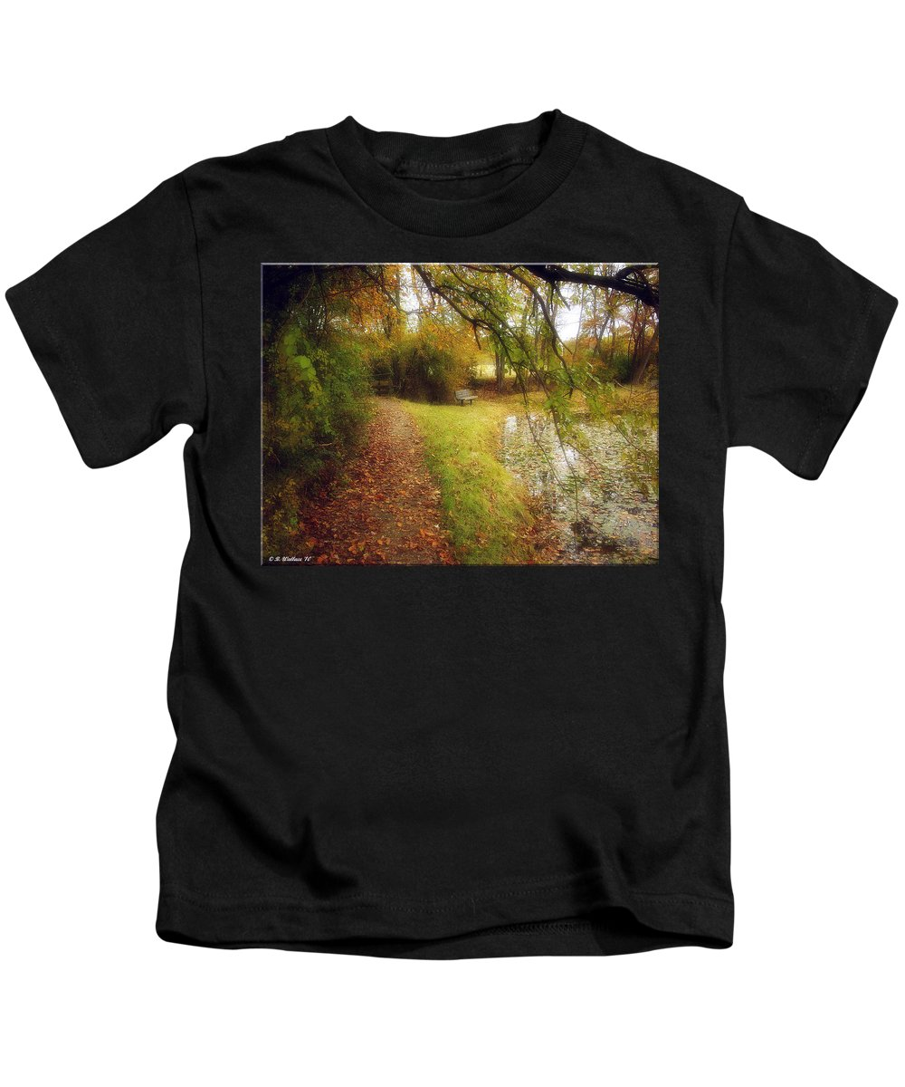 2d Kids T-Shirt featuring the photograph Still Waters by Brian Wallace