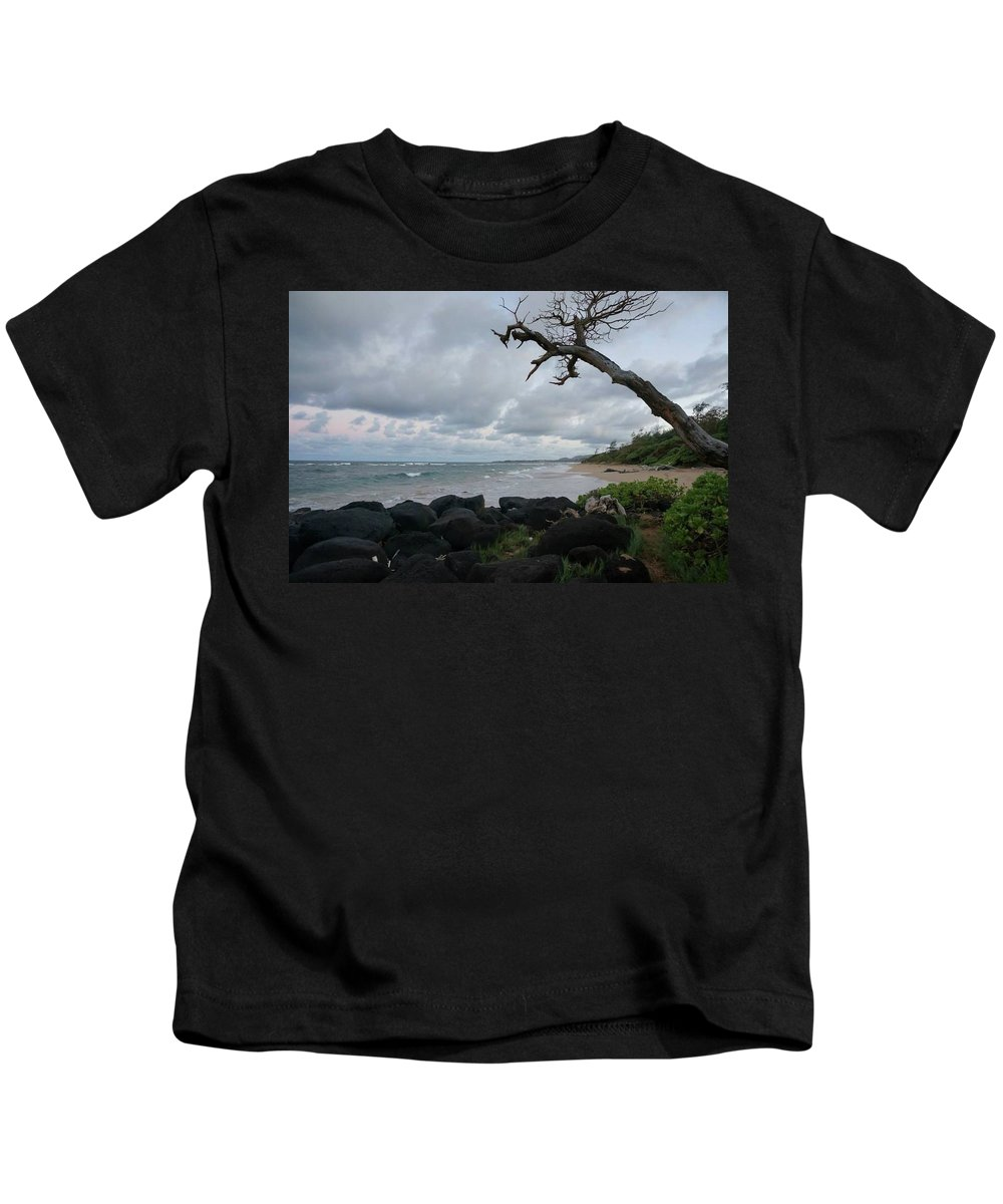 Coast Kids T-Shirt featuring the photograph Storm Brewing by Cara Packer