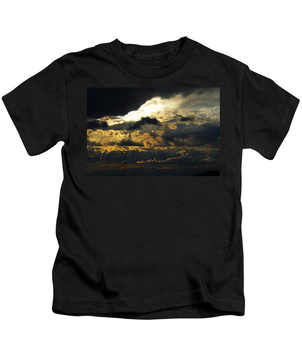 Storm Clouds Kids T-Shirt featuring the photograph Storm Rolling In by Larry Ricker