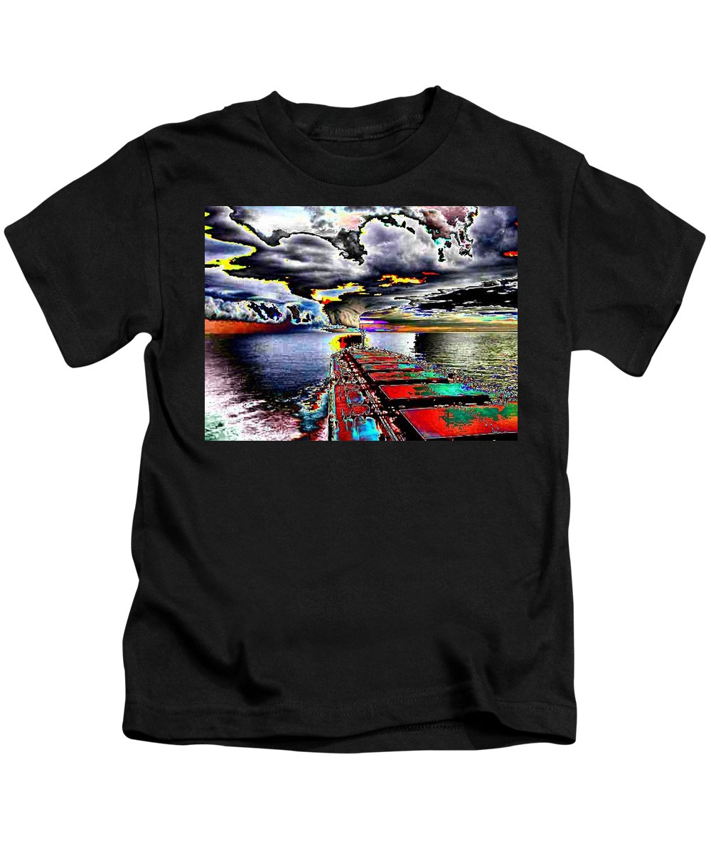 Storm Clouds Kids T-Shirt featuring the photograph Storm Warning by Tim Allen