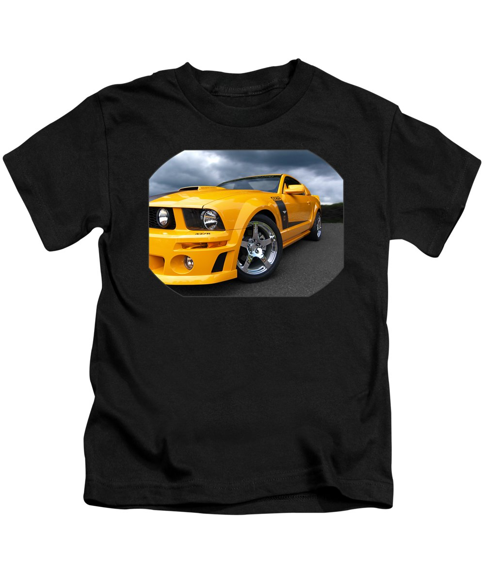 Ford Mustang Kids T-Shirt featuring the photograph Storming Roush by Gill Billington