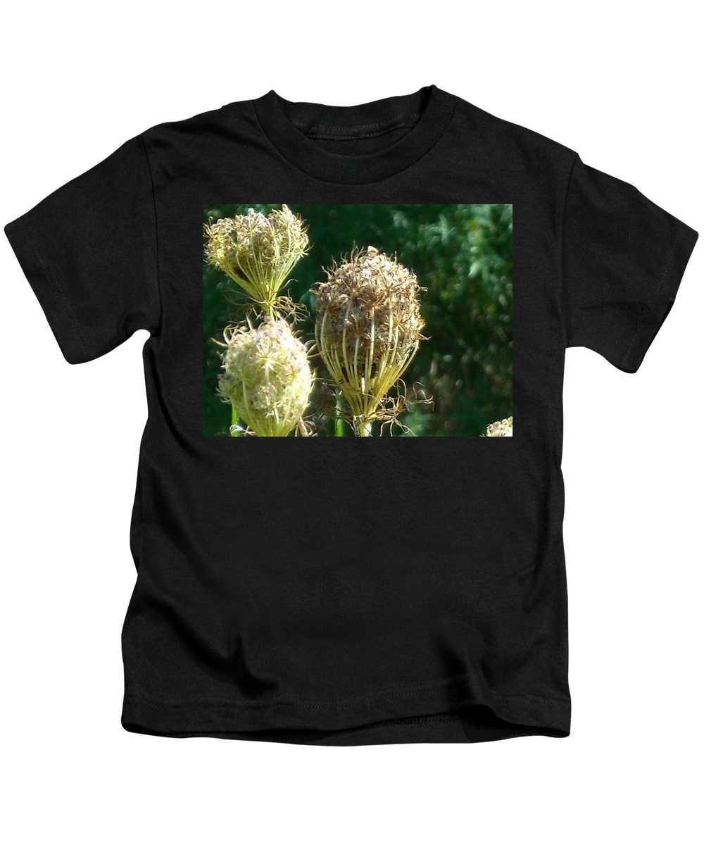 Kids T-Shirt featuring the photograph Strange Flowers by Line Gagne