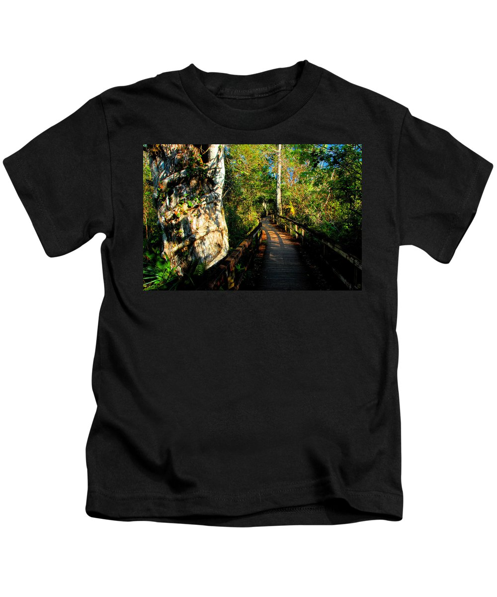 Strangler Fig Kids T-Shirt featuring the painting Strangler Fig by David Lee Thompson