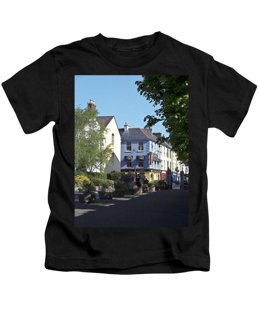 Irish Kids T-Shirt featuring the photograph Street Corner In Tralee Ireland by Teresa Mucha