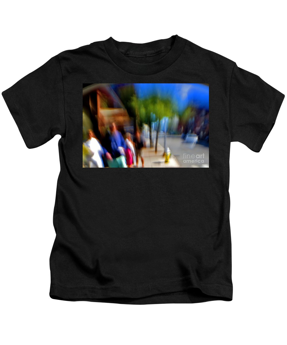 Street Kids T-Shirt featuring the photograph Street Scene by Madeline Ellis