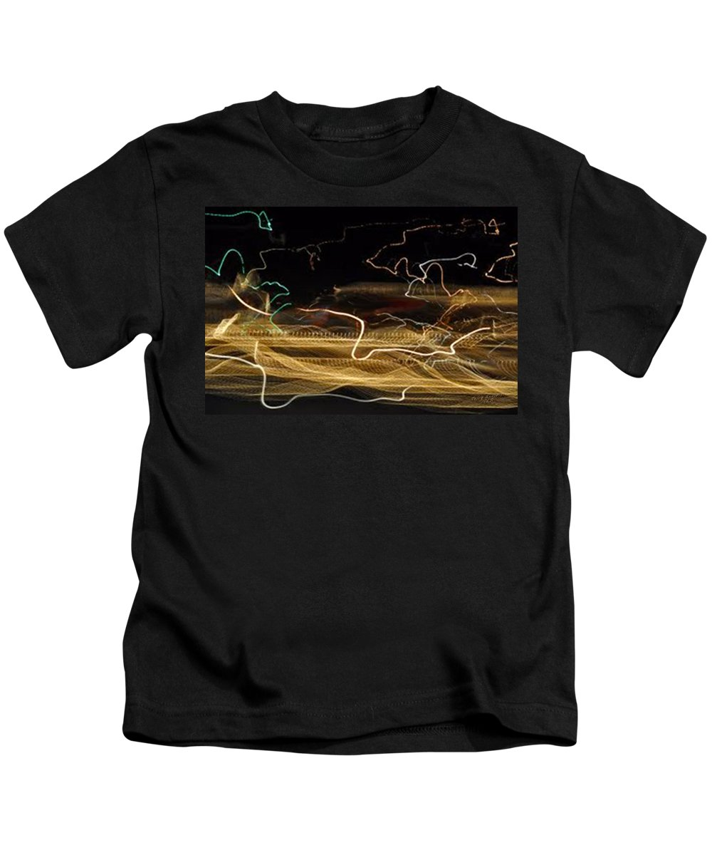 Abstracts Kids T-Shirt featuring the digital art Strings Of Light by Terry Anderson