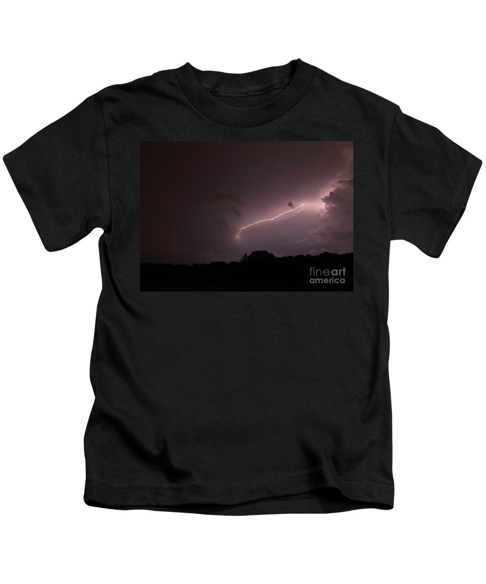 Lightning Kids T-Shirt featuring the photograph Strong Arm by Amanda Barcon